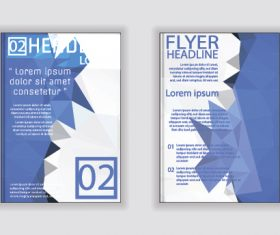 Blue and white cover A4 size brochure vector