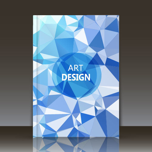 Blue geometric abstract background brochure vector