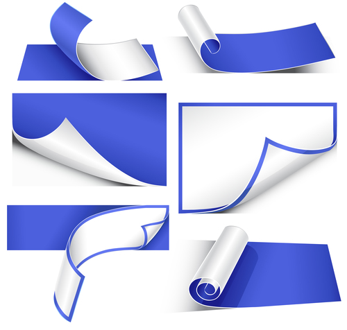 Blue paper corner vector
