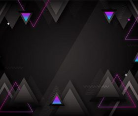 Blue triangle grid background vector
