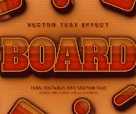 Board vector text effect