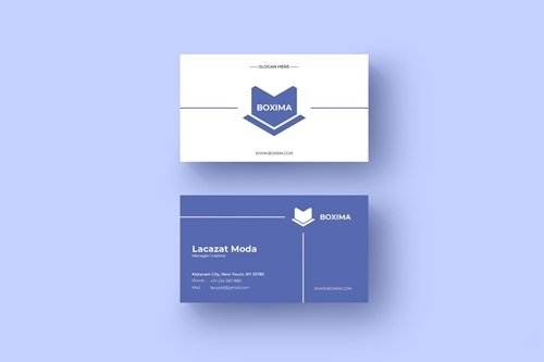 Boxima card name template vector