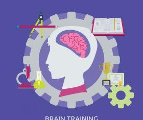 Brain Training vector