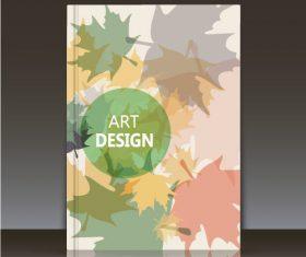 Brochure leaf background vector