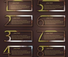 Brown rectangle infographic vector