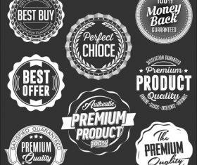 Business label black vector