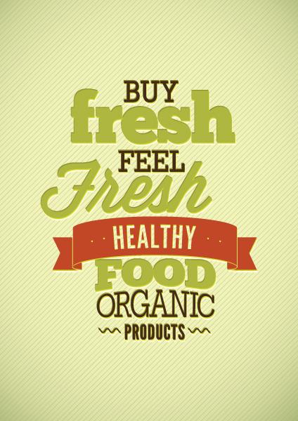 Buy fresh feel food card vector