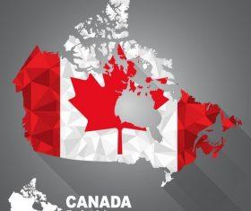 Canada map flag vector