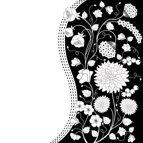 Card flower background vector
