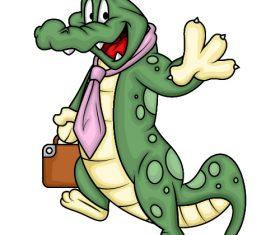 Cartoon Mr. Crocodile Vector