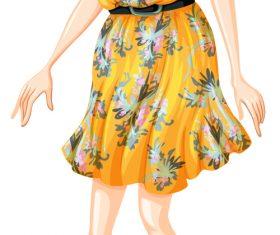 Cartoon character model vector