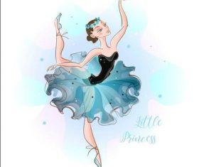 Cartoon dancing ballet vector