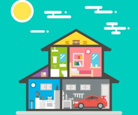 Cartoon house design vector