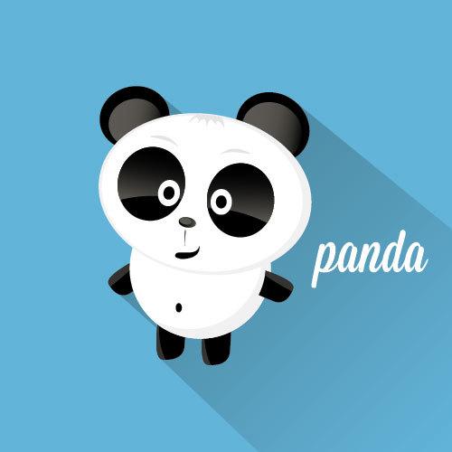 Cartoon panda icon vector