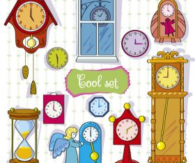 Cartoon vintage clock vector