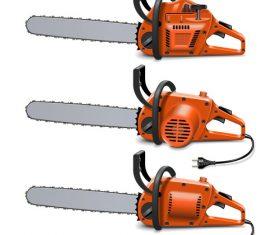 Chain saws vector