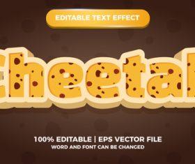 Cheetah editable text effect comic title games vector