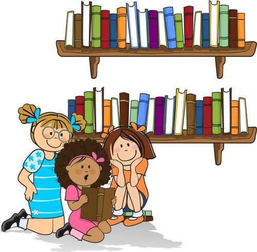 Children reading vector