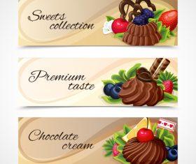 Chocolate pie banner vector