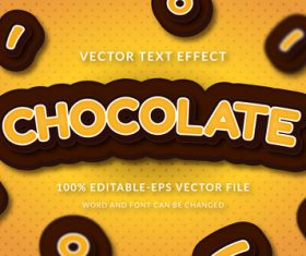 Chocolate vector text effect