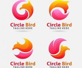 Circle bird logo vector design