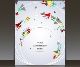 Circle geometric pattern brochure background vector