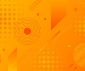 Circle orange abstract background vector