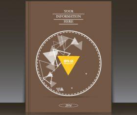Circular composition brochure background vector