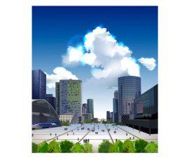 City center square vector