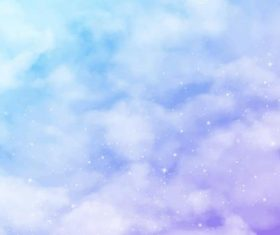 Clear blue sky watercolor painting vector