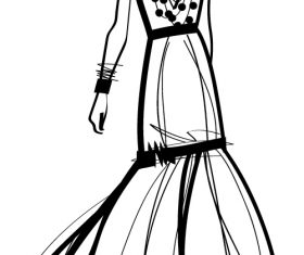 Clothing mannequin sketch vector