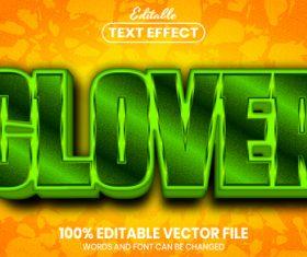 Clover font style editable text effect vector