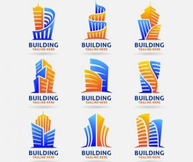 Collection of building logo vector