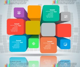 Color column infographic vector