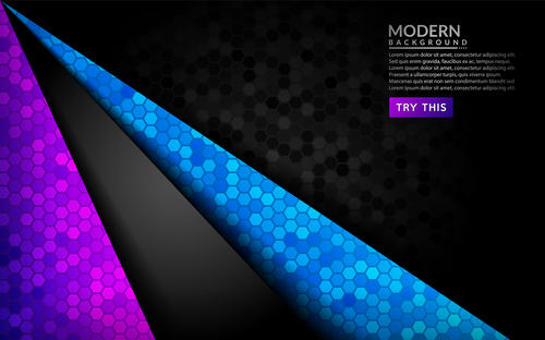 Color modern background vector
