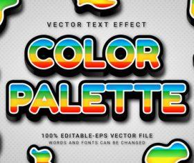 Color palette vector text effect