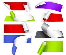 Color paper corner vector