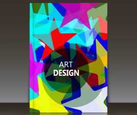Colorful geometric pattern brochure background vector