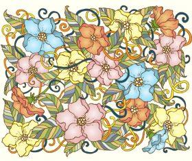 Combination flower background vector