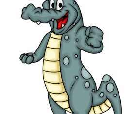 Come on crocodile cartoon vector