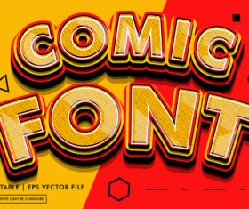 Comic font editable text style effect vector