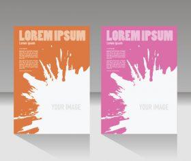 Company brochure cover design vector