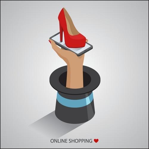 Concept online store vector