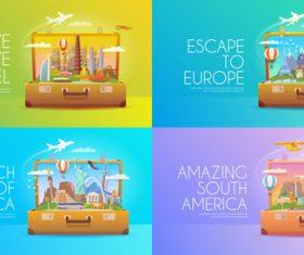 Concept travel illustration vector