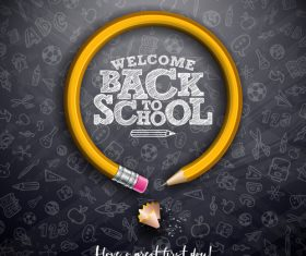 Concept welcome back to school flyer vector