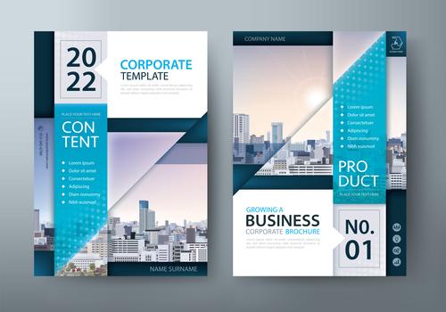 Corporate public relations brochure vector