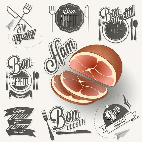 Creative menu food in vector