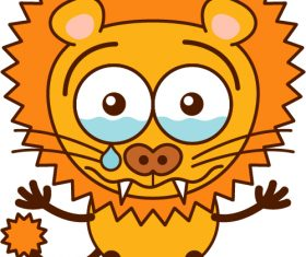 Crying lion vector