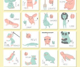 Cute alphabet vector