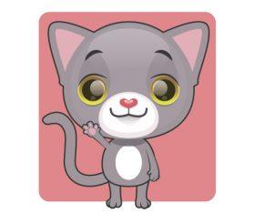 Cute gray kitten vector